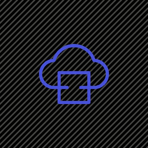cloud, file, platform, share, storage icon