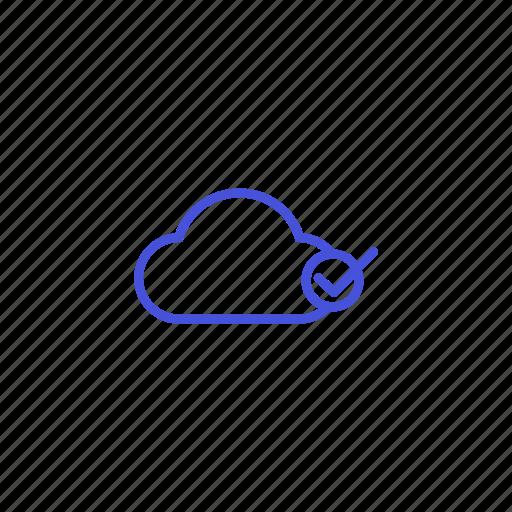 checklist, cloud, file, platform, share, storage icon