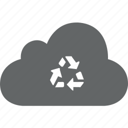 cloud, delete, dust, dustbin, recover, recycle icon