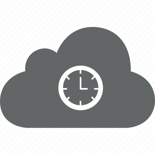 cloud, date, needle, time, watch icon