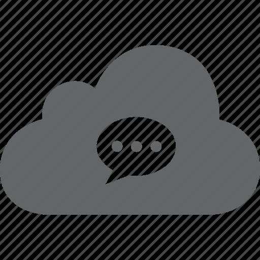 bubble, chat, cloud, message, send icon