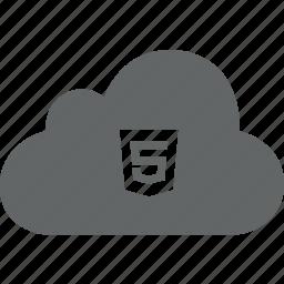 cloud, code, html, html 5, web icon