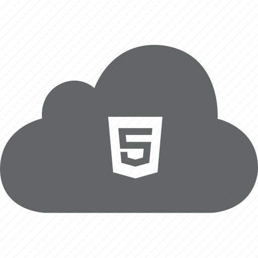 cloud, code, html, html 5, web icon