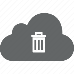 cloud, delete, dust, dustbin, remove, trash icon