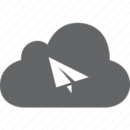 cloud, mail, message, rocket, send, talk icon