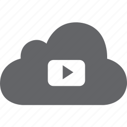 cloud, play, song, video, youtube icon