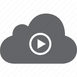 cloud, media, play, song, video, youtube icon