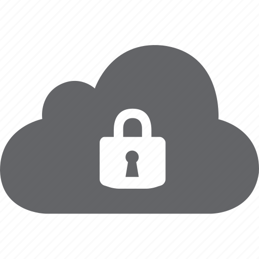 cloud, lock, privacy, safe, secure, security icon