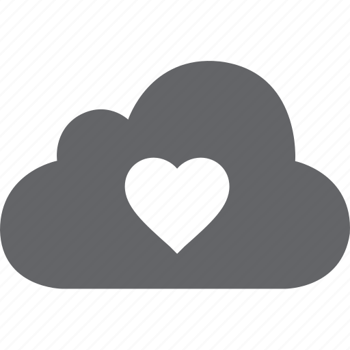 cloud, heart, love icon