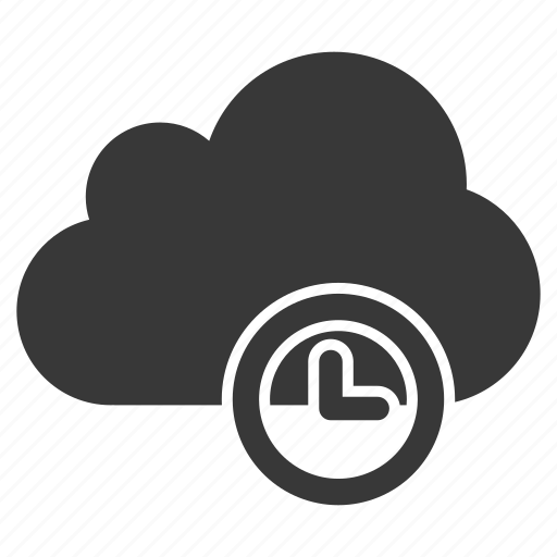 clock, cloud, history, schedule, stopwatch, time, wait icon