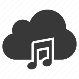 audio, cloud, media, music, song, sound, voice icon