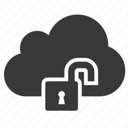cloud, private, protect, security, unlock, unsafe, unsecure icon