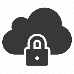 cloud, locked, private, protect, safe, secure, security icon