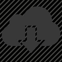 arrow, cloud, down, download, guardar, internet, save icon