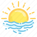 fog, forecast, haze, mist, smoke, sun, weather icon