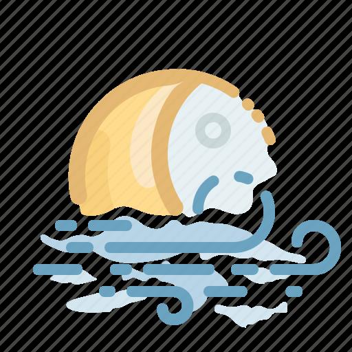 forecast, moon, night, weather, wind, windy icon