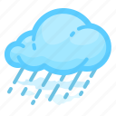 cloud, forecast, rain, rainy, shower, weather icon