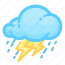 forecast, rain, rainy, shower, thunderstorm, weather icon