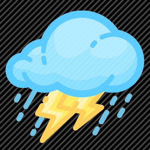 forecast, rain, rainy, shower, thunderstorm, weather icon