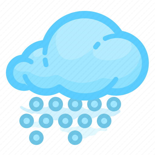 cloud, forecast, hail, shower, weather, with icon