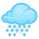 cloud, forecast, shower, snow, weather, with icon