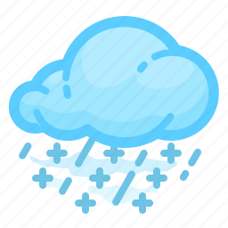 cloud, forecast, rain, shower, snow, weather icon