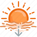 fall, forecast, horizon, sun, sundown, sunset, weather icon