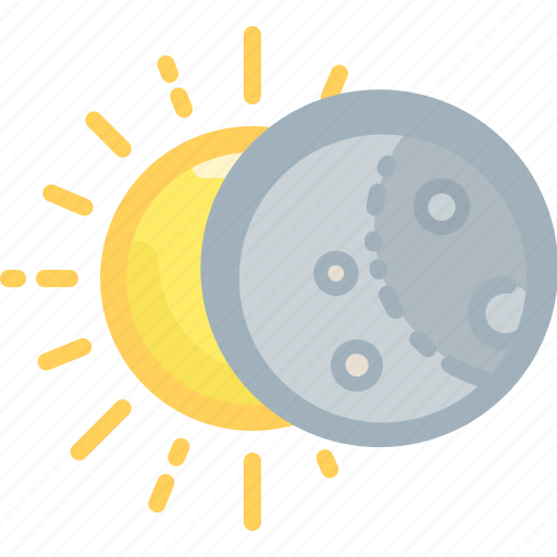 eclipse, forecast, moon, phoebe, shadow, sun, weather icon