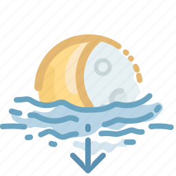 down, fall, forecast, moon, night, phoebe, weather icon