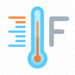 fahrenheit, forecast, scale, tempeature, thermometer, weather icon