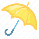 cover, forecast, rain, safe, umbrella, weather icon