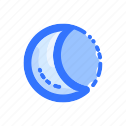 forecast, moon, night, phoebe, sattelite, weather icon