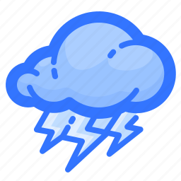 cloud, forecast, levin, lightning, thunderstorm, weather icon