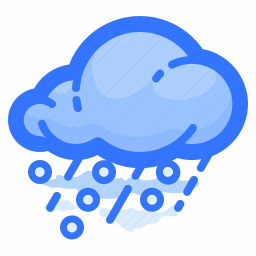 cloud, forecast, hail, rain, shower, weather icon