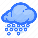 cloud, forecast, hail, shower, weather icon