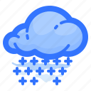 cloud, forecast, shower, snow, weather icon