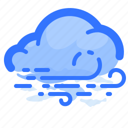 cloud, forecast, overcast, weather, wind, windy icon