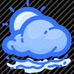 cloud, cloudy, fogg, foggy, forecast, sun, weather icon