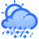 cloud, forecast, rain, rainy, shower, snow, weather icon