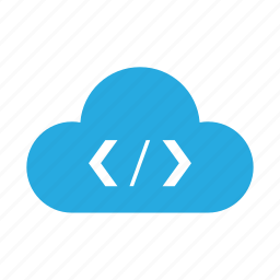 cloud, code, html, page, php, programming, script icon