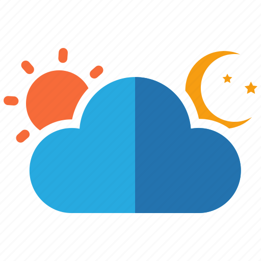 all day, all night, all time, cloud, day, forecast, night icon