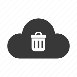 bin, cloud, delete, remove, trash icon