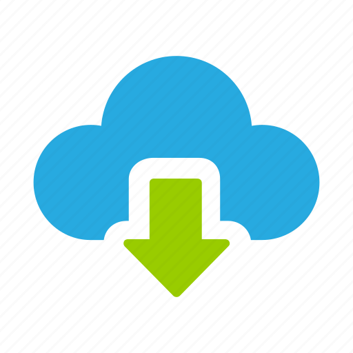 add, cloud, down, download icon