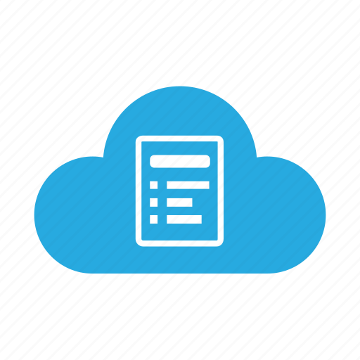 cloud, document, documents, file, files, format, page icon