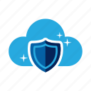 cloud, guard, private, protection, safe, secure, shield icon