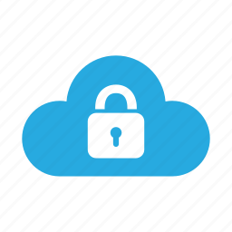 cloud, lock, password, protection, safe, secure, security icon