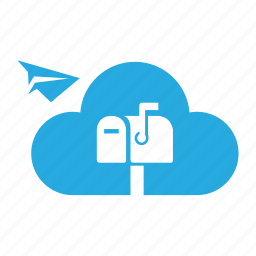 address, cloud, email, letter, mail, mailbox, message icon