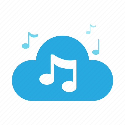 audio, cloud, media, multimedia, music, song, sound icon