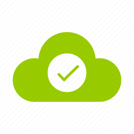 accept, check, cloud, correct, success, tick, yes icon