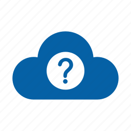cloud, confuse, faq, help, info, question, support icon